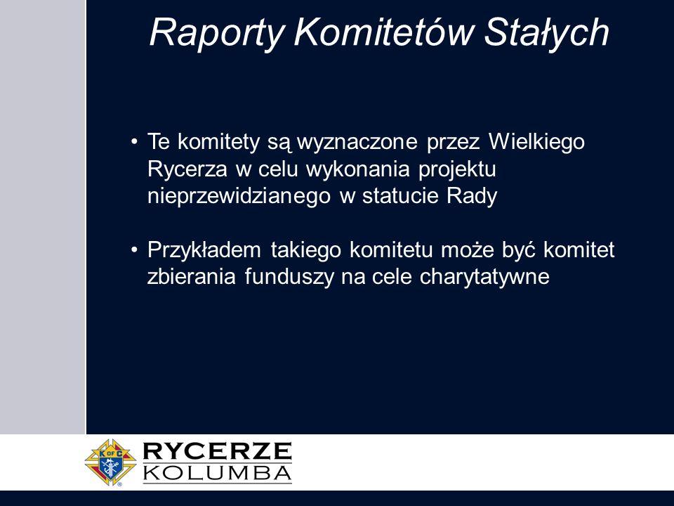 Raporty Komitetów Stałych