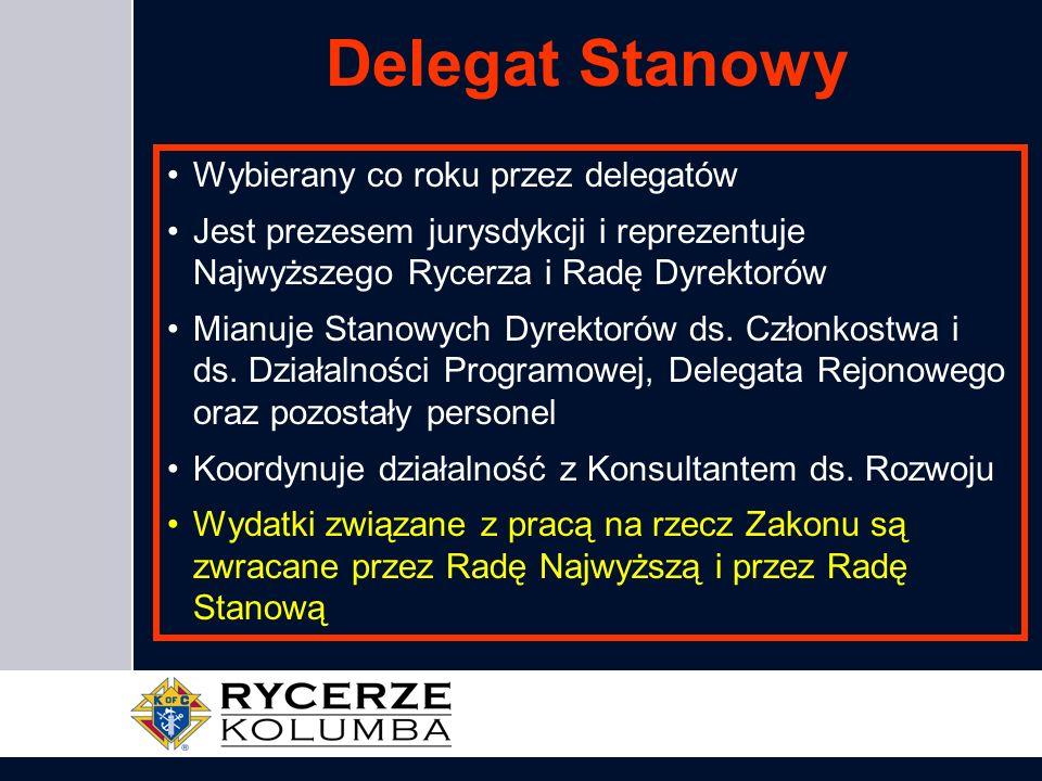 Delegat Stanowy Wybierany co roku przez delegatów