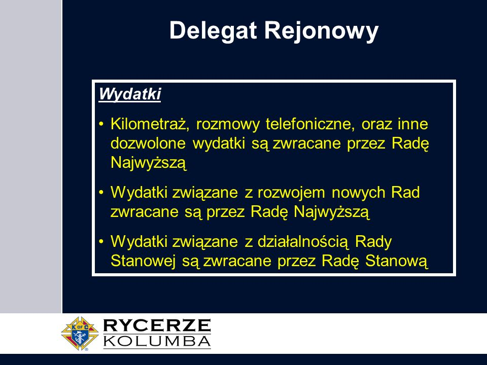Delegat Rejonowy Wydatki