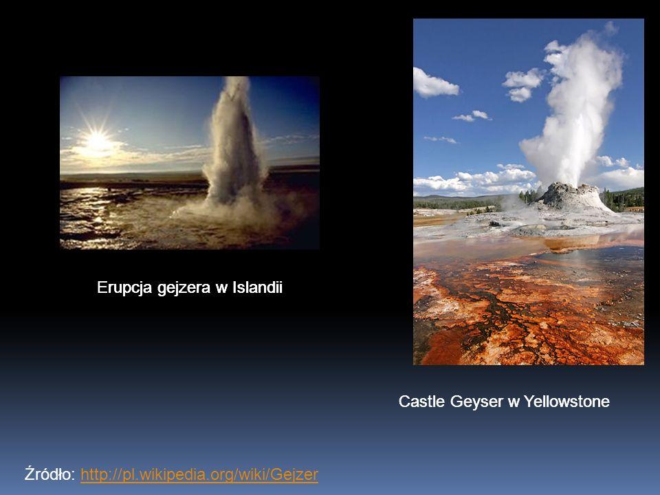 Erupcja gejzera w Islandii Erupcja gejzera w Islandii