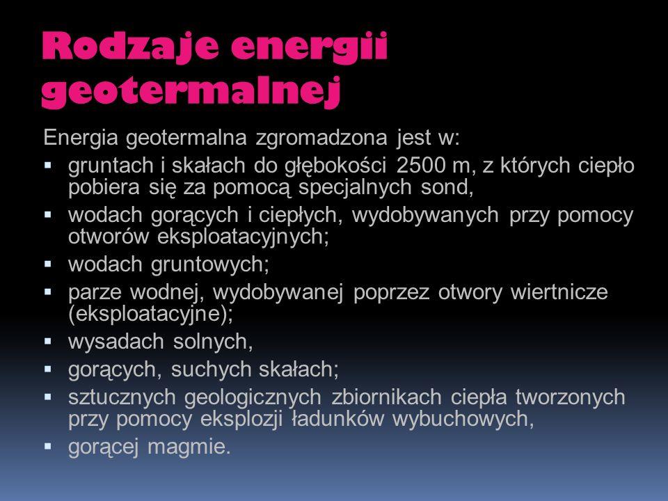 Rodzaje energii geotermalnej