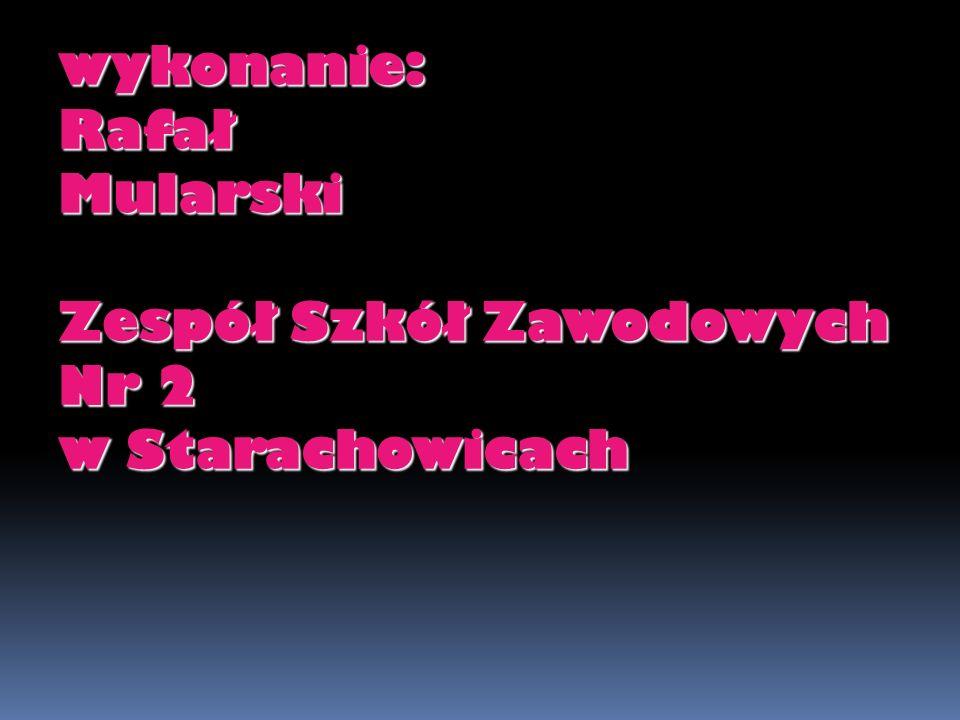 wykonanie: Rafał Mularski Zespół Szkół Zawodowych Nr 2 w Starachowicach
