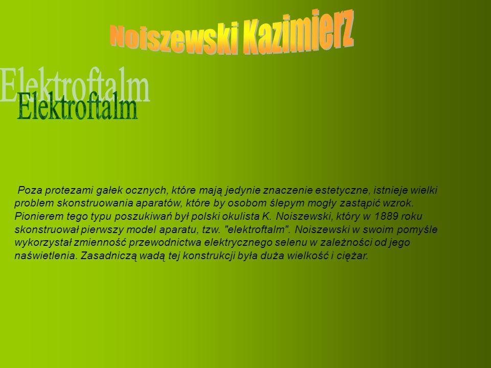 Noiszewski Kazimierz Elektroftalm