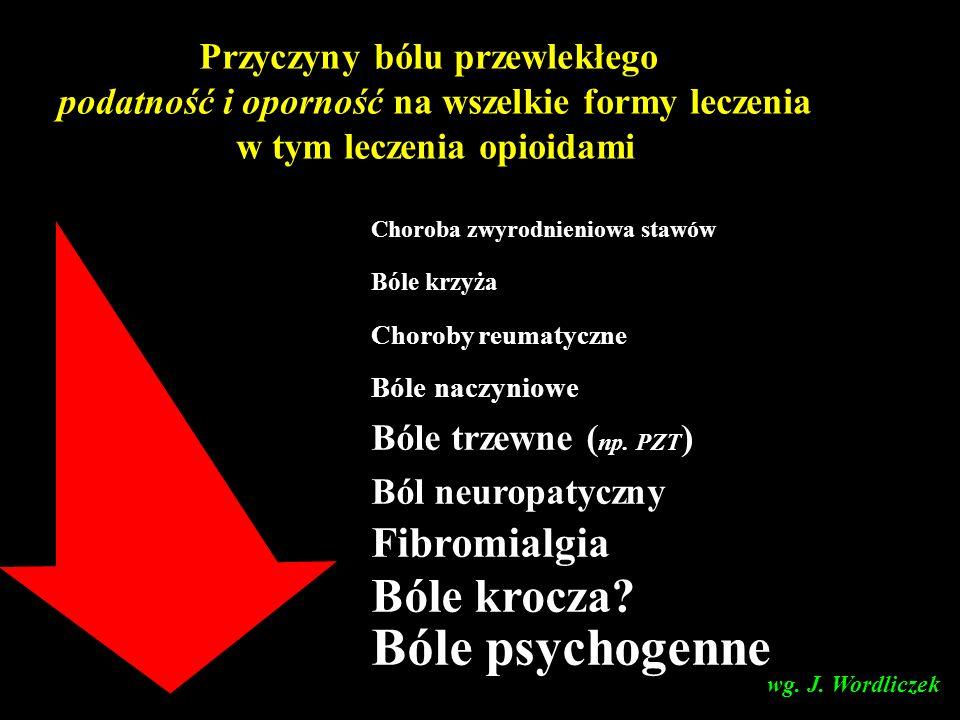 Bóle psychogenne Bóle krocza Fibromialgia Przyczyny bólu przewlekłego