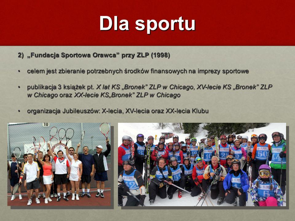 """Dla sportu 2) """"Fundacja Sportowa Orawca przy ZLP (1998)"""