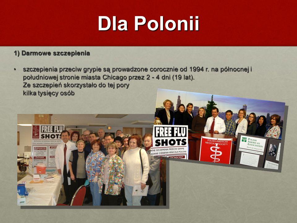 Dla Polonii 1) Darmowe szczepienia
