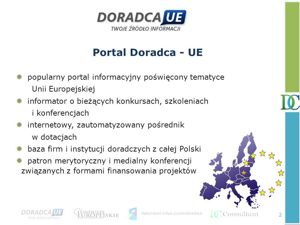 Portal Doradca - UE popularny portal informacyjny poświęcony tematyce