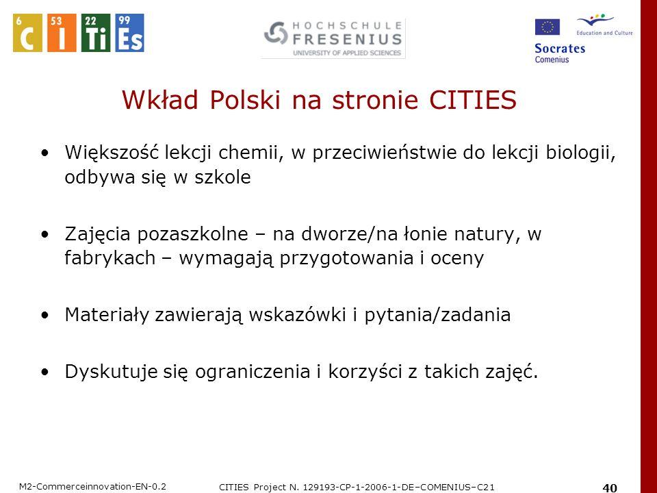 Wkład Polski na stronie CITIES
