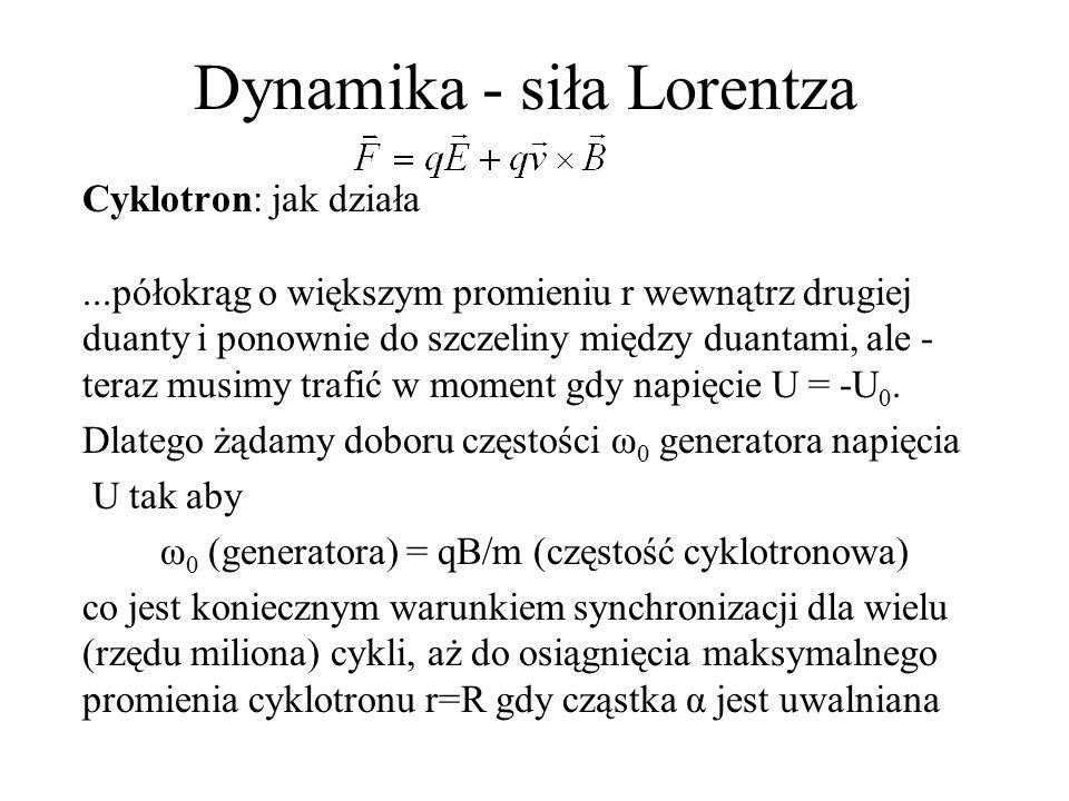 Dynamika - siła Lorentza