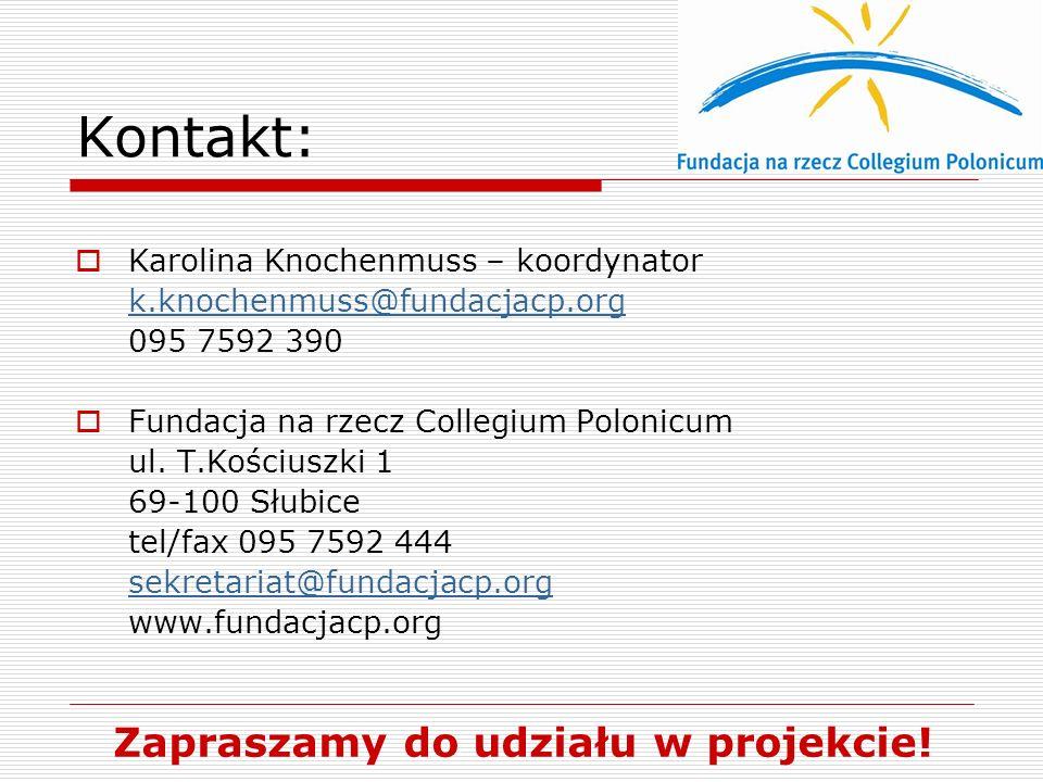 Zapraszamy do udziału w projekcie!