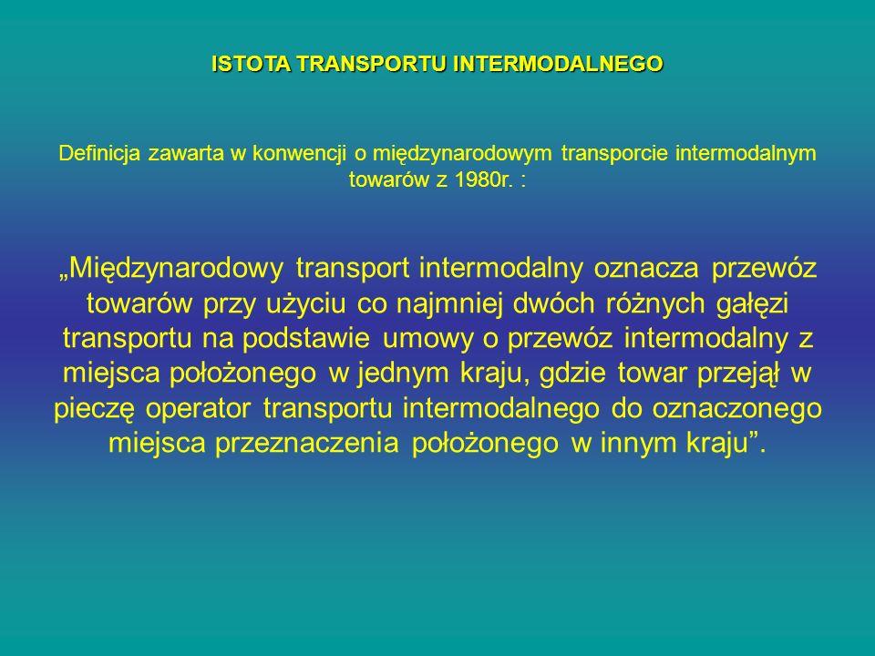 ISTOTA TRANSPORTU INTERMODALNEGO