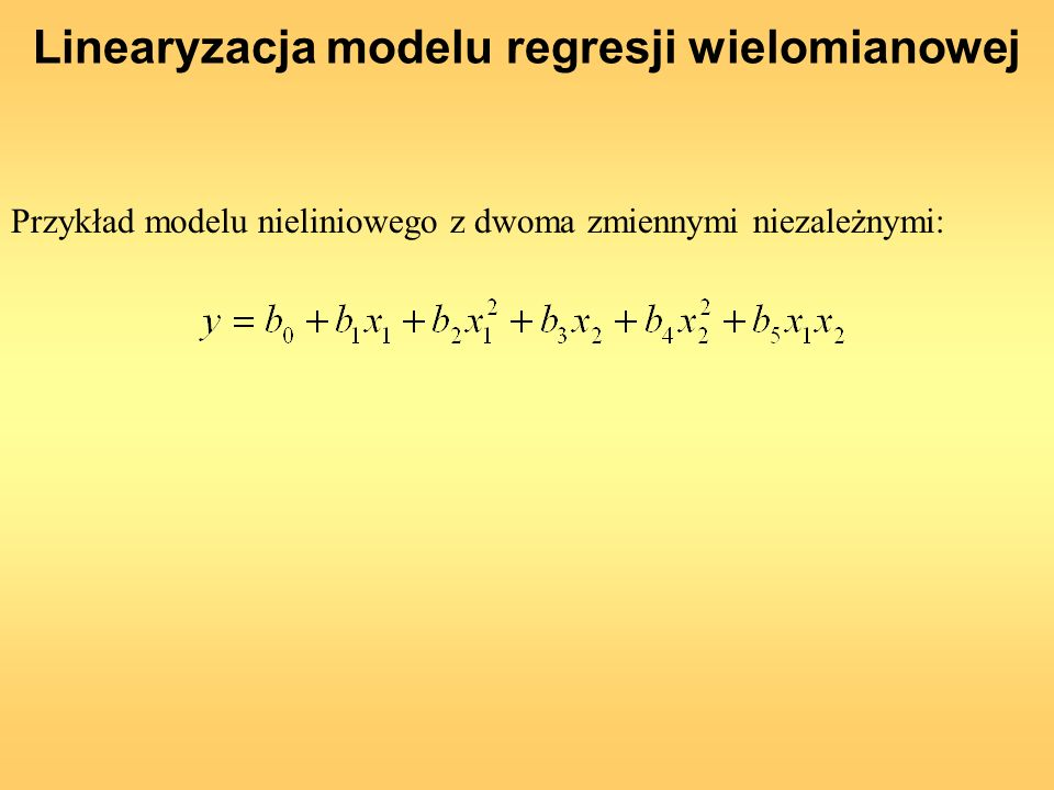 Linearyzacja modelu regresji wielomianowej