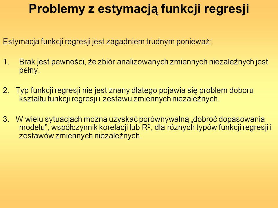 Problemy z estymacją funkcji regresji