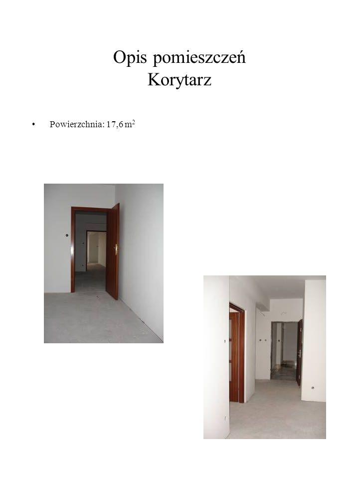 Opis pomieszczeń Korytarz