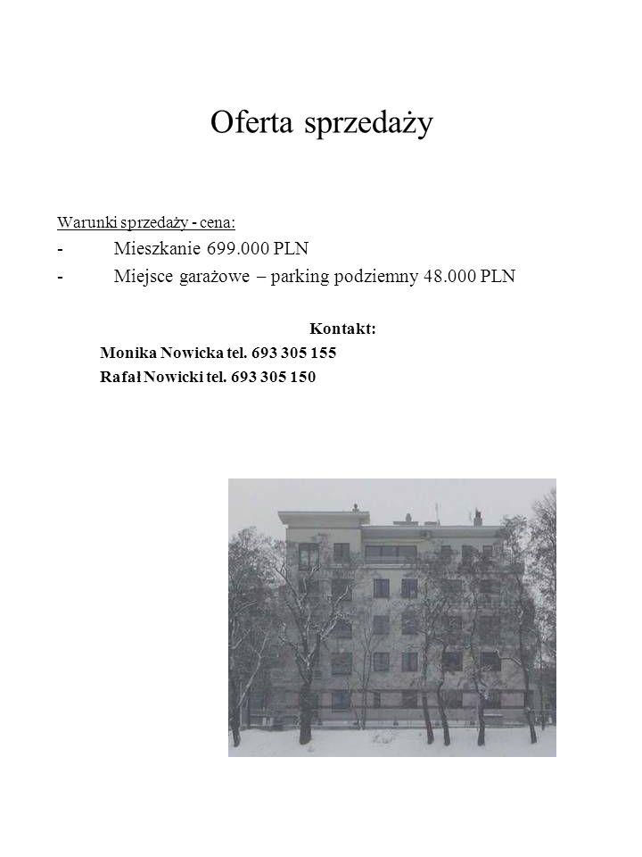 Oferta sprzedaży Mieszkanie 699.000 PLN