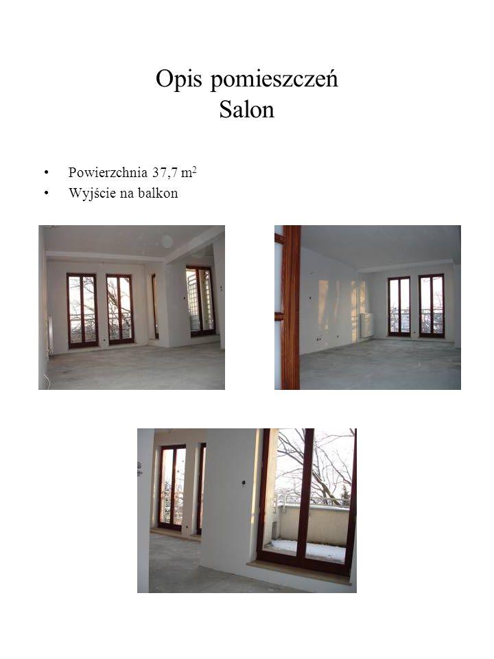 Opis pomieszczeń Salon