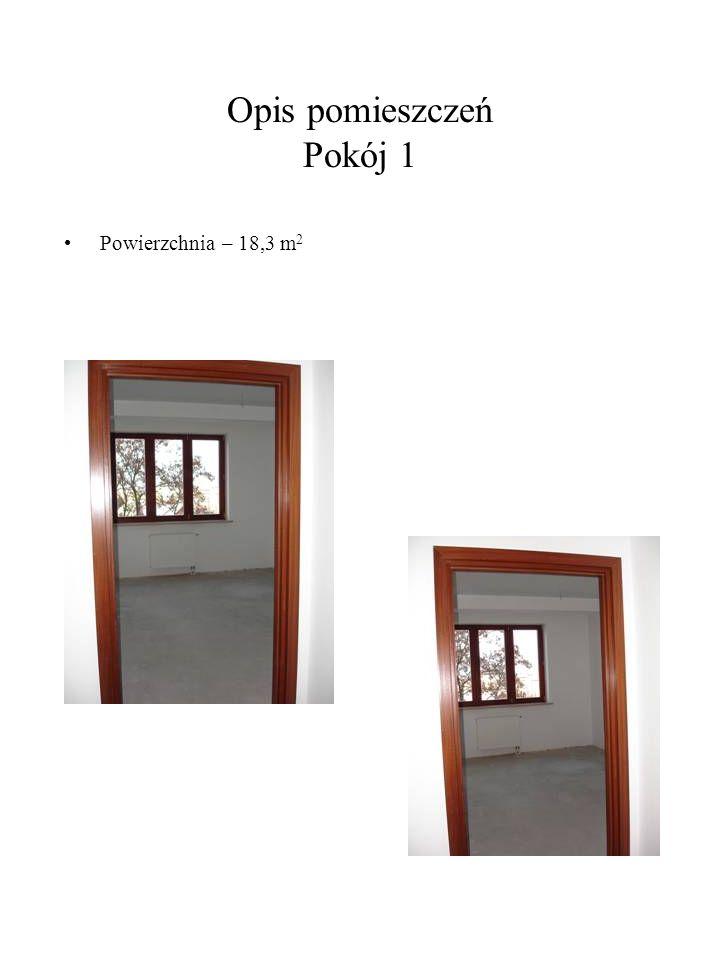 Opis pomieszczeń Pokój 1