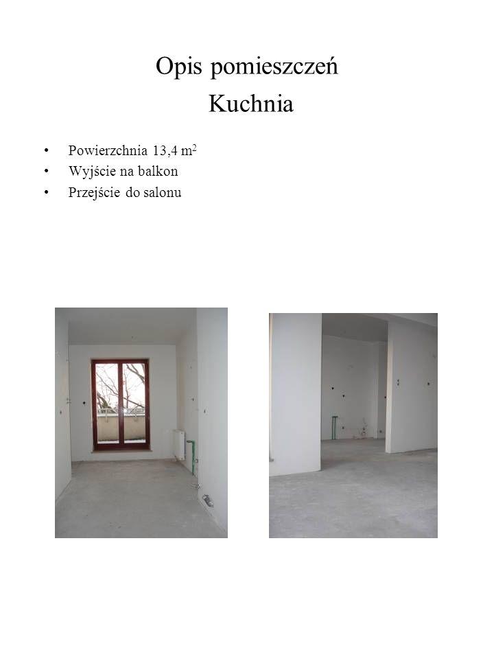 Opis pomieszczeń Kuchnia