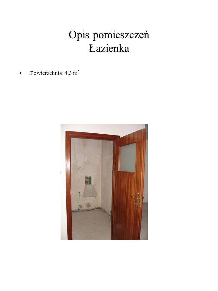 Opis pomieszczeń Łazienka