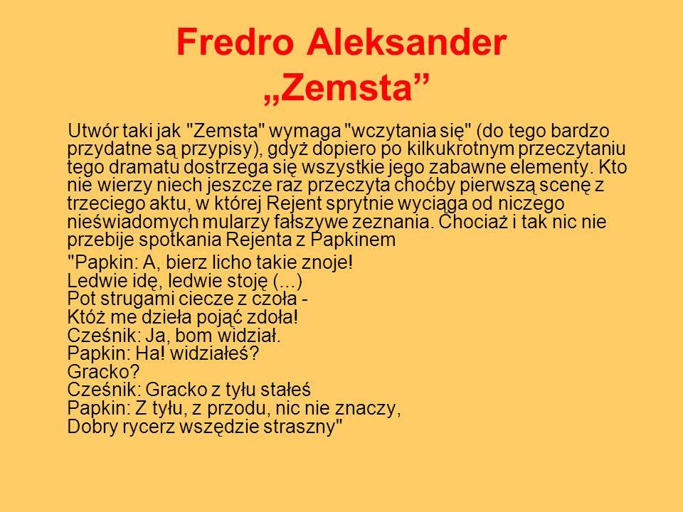 """Fredro Aleksander """"Zemsta"""