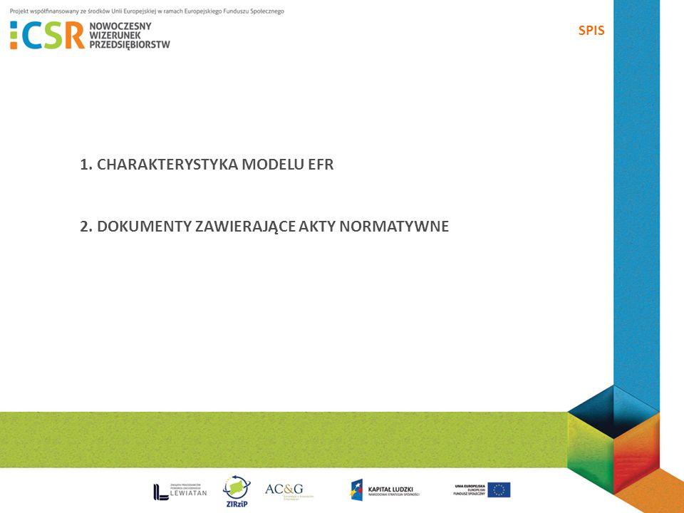 1. CHARAKTERYSTYKA MODELU EFR