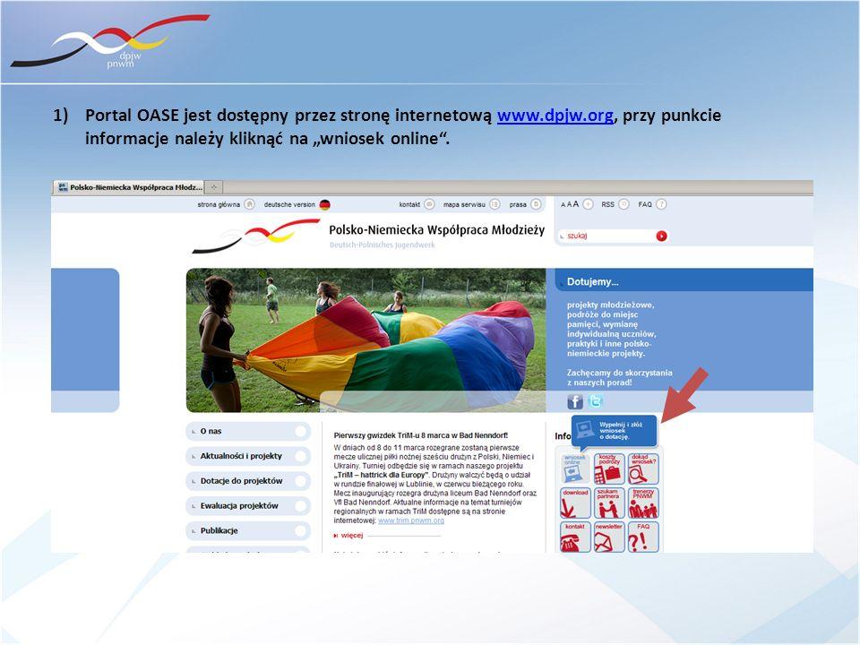 Portal OASE jest dostępny przez stronę internetową www. dpjw