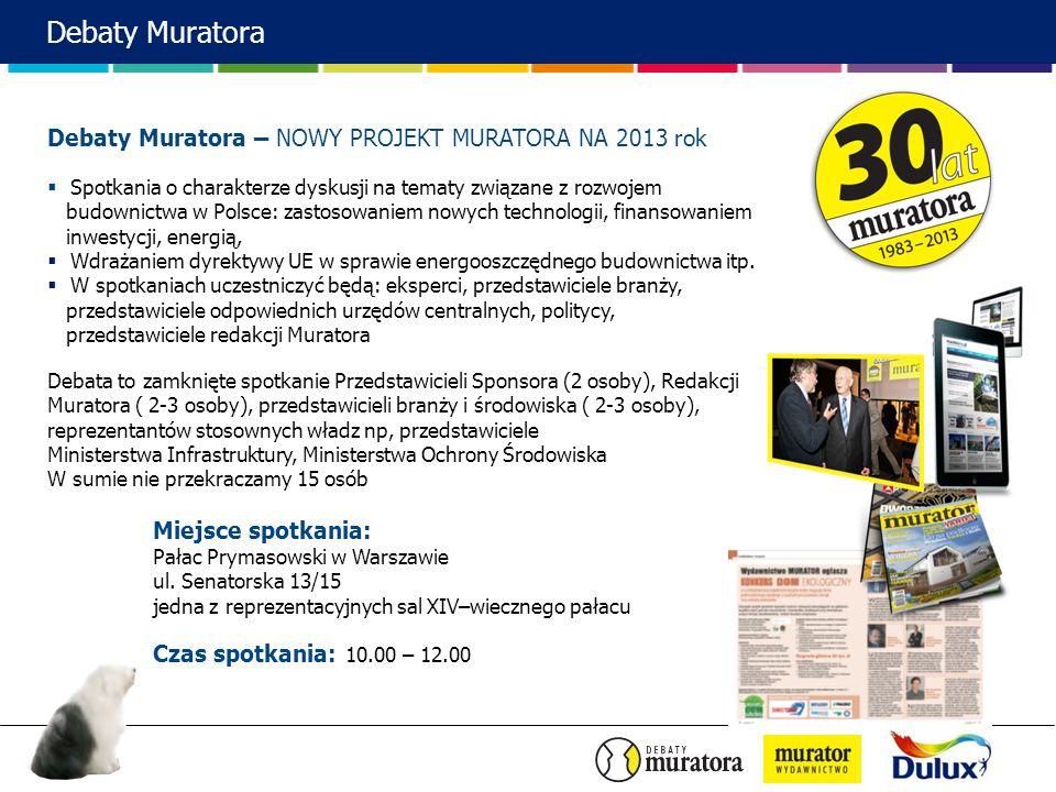 Debaty Muratora Debaty Muratora – NOWY PROJEKT MURATORA NA 2013 rok