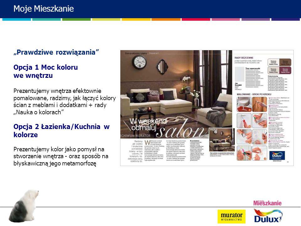 """Moje Mieszkanie """"Prawdziwe rozwiązania Opcja 1 Moc koloru we wnętrzu"""