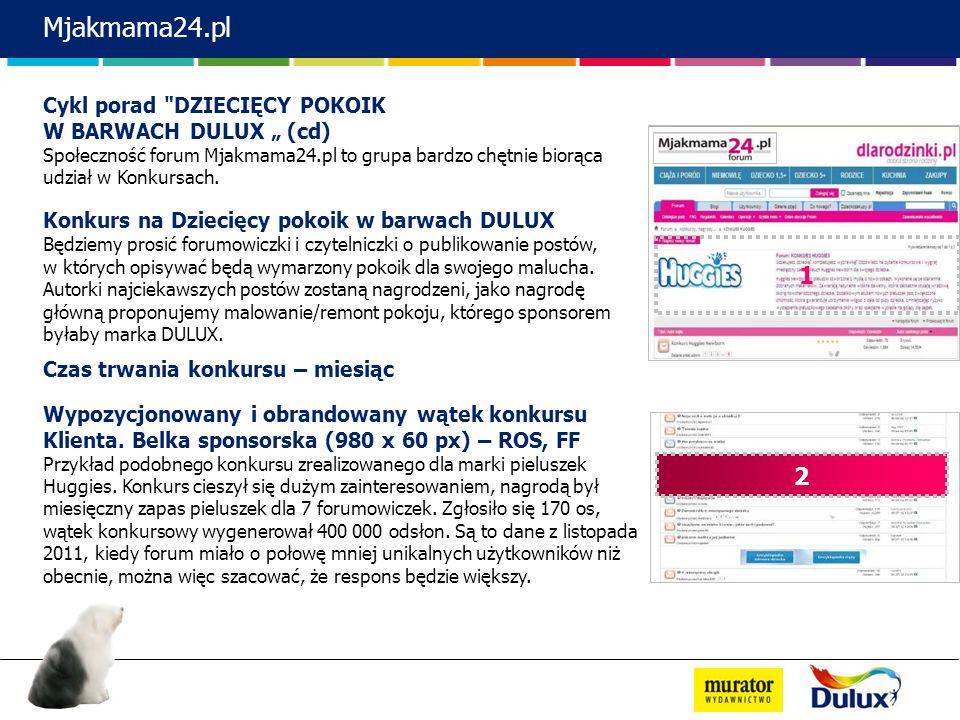 """Mjakmama24.pl 1 2 Cykl porad DZIECIĘCY POKOIK W BARWACH DULUX """" (cd)"""