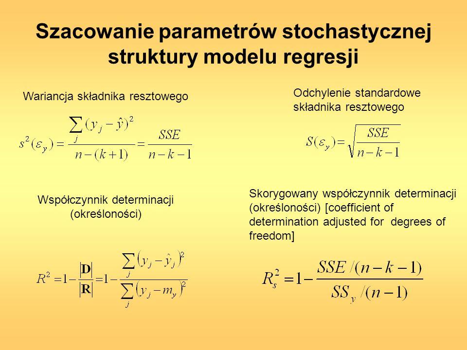 Szacowanie parametrów stochastycznej struktury modelu regresji