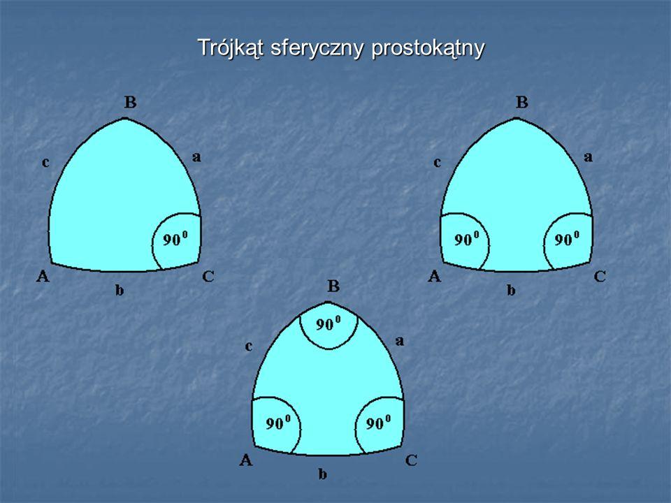 Trójkąt sferyczny prostokątny