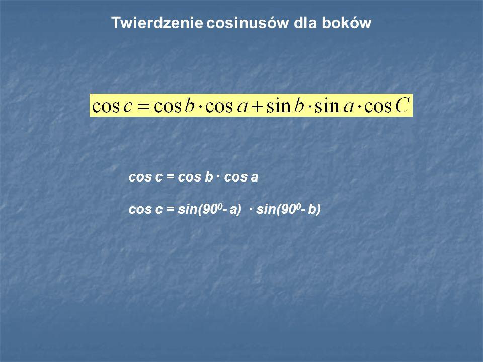 Twierdzenie cosinusów dla boków