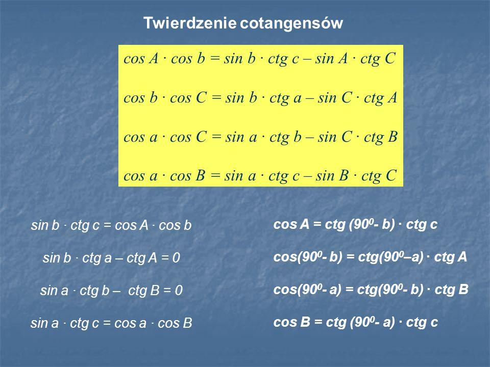Twierdzenie cotangensów