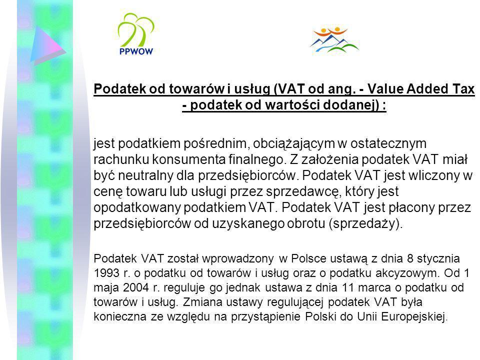 Podatek od towarów i usług (VAT od ang