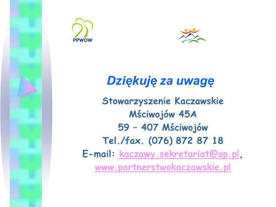 Stowarzyszenie Kaczawskie E-mail: kaczawy.sekretariat@op.pl,