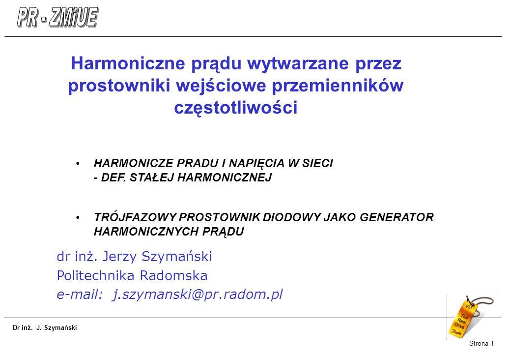 Harmoniczne prądu wytwarzane przez prostowniki wejściowe przemienników częstotliwości