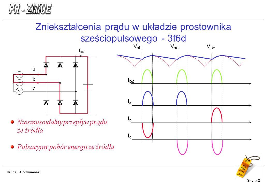 Zniekształcenia prądu w układzie prostownika sześciopulsowego - 3f6d