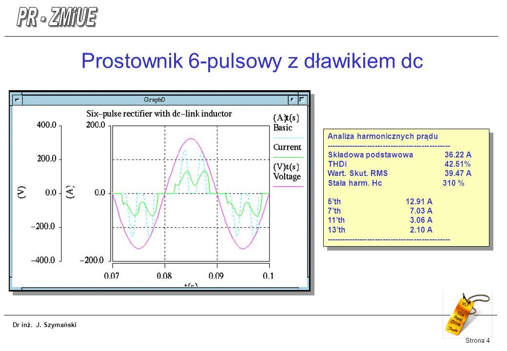 Prostownik 6-pulsowy z dławikiem dc