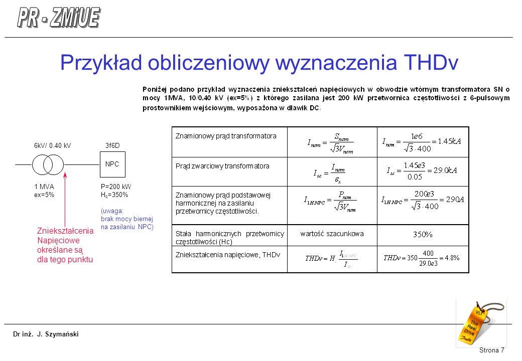 Przykład obliczeniowy wyznaczenia THDv