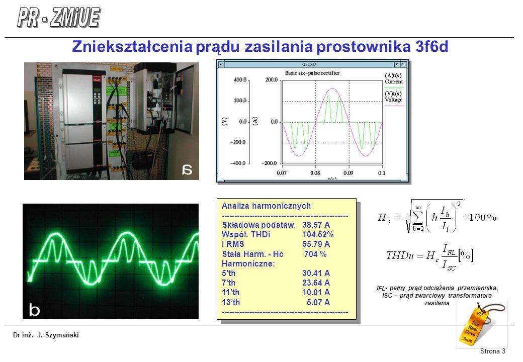 Zniekształcenia prądu zasilania prostownika 3f6d