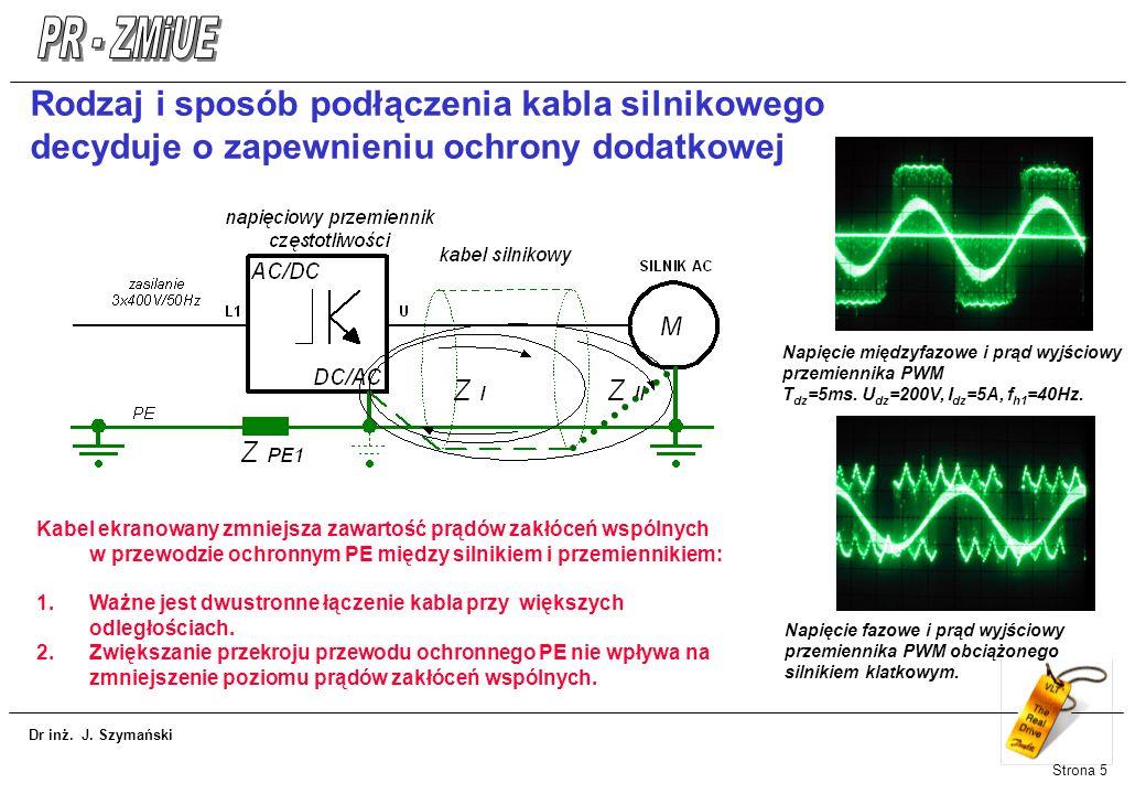 Rodzaj i sposób podłączenia kabla silnikowego decyduje o zapewnieniu ochrony dodatkowej