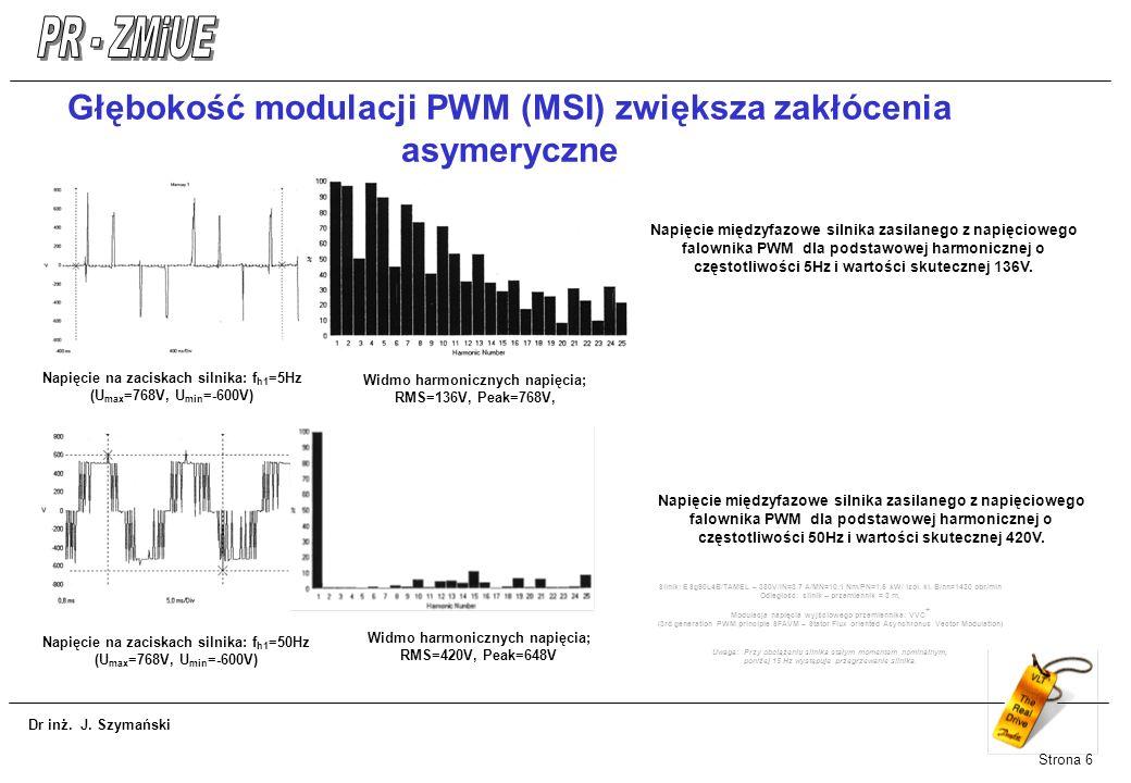 Głębokość modulacji PWM (MSI) zwiększa zakłócenia asymeryczne