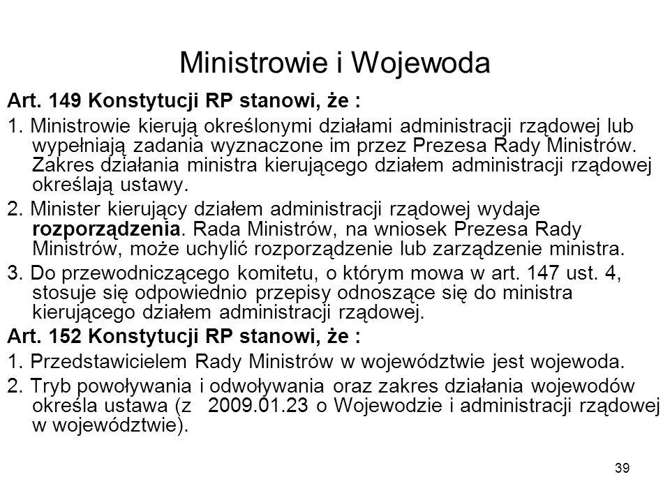 Ministrowie i Wojewoda