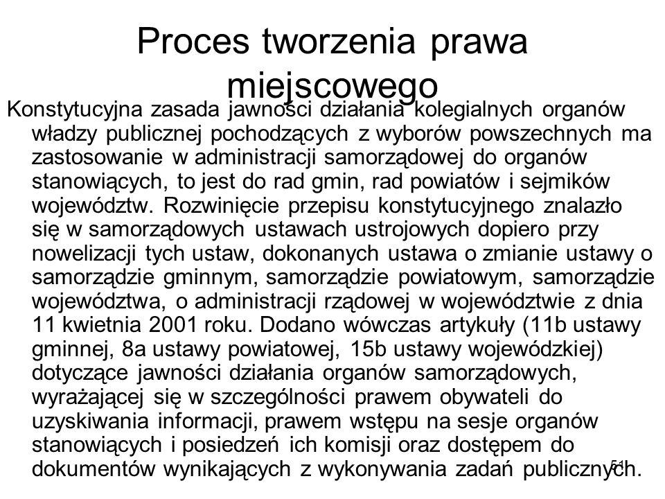 Proces tworzenia prawa miejscowego