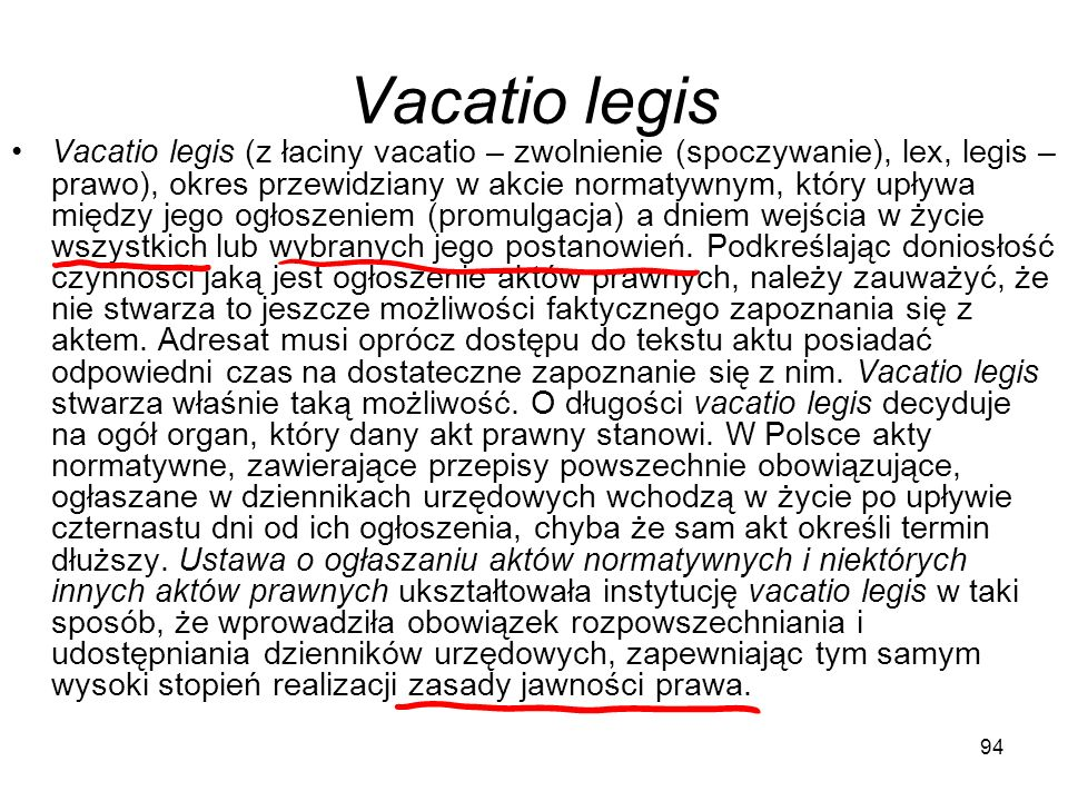 Vacatio legis