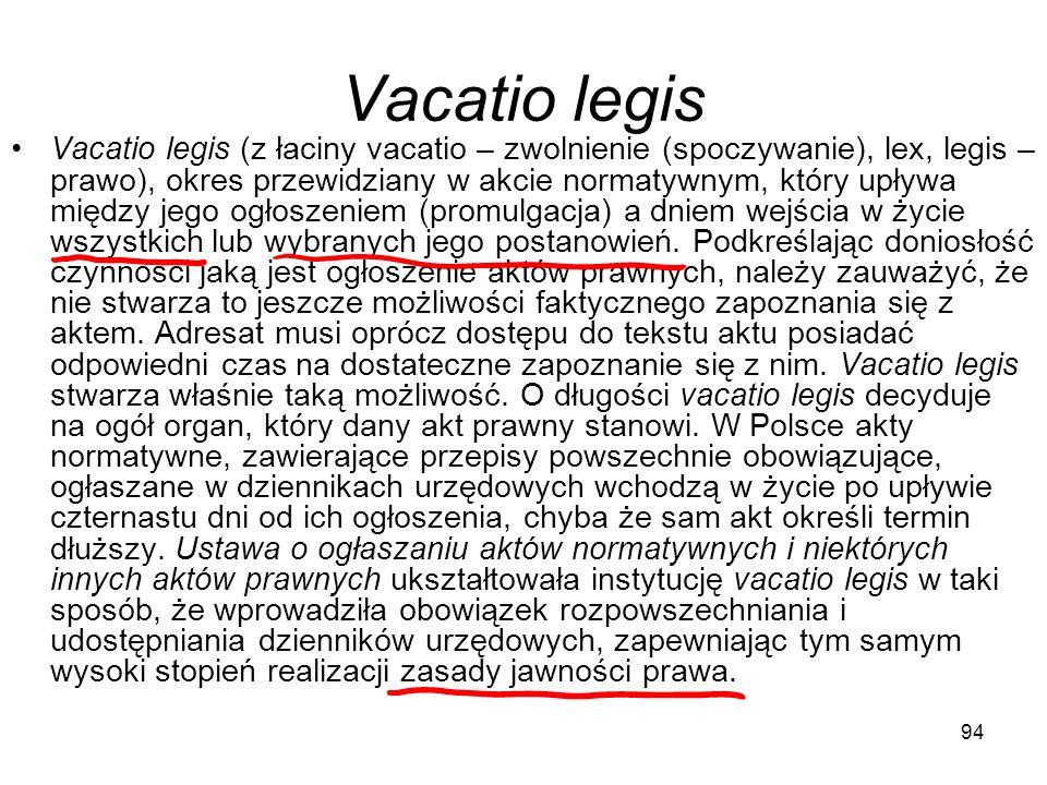 Vacatio legis