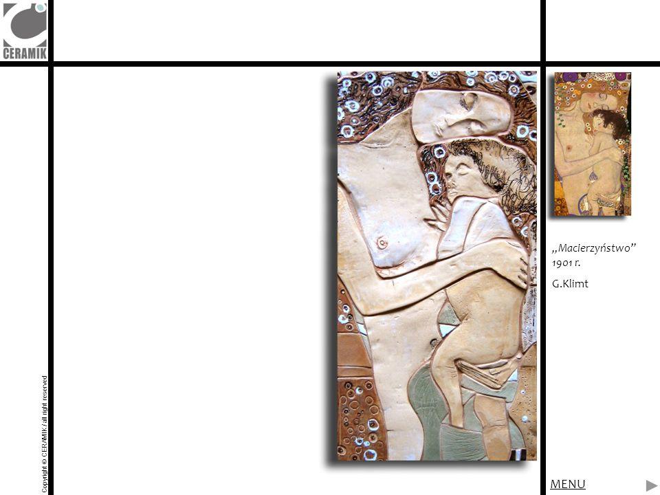 "MENU ""Macierzyństwo 1901 r. G.Klimt"