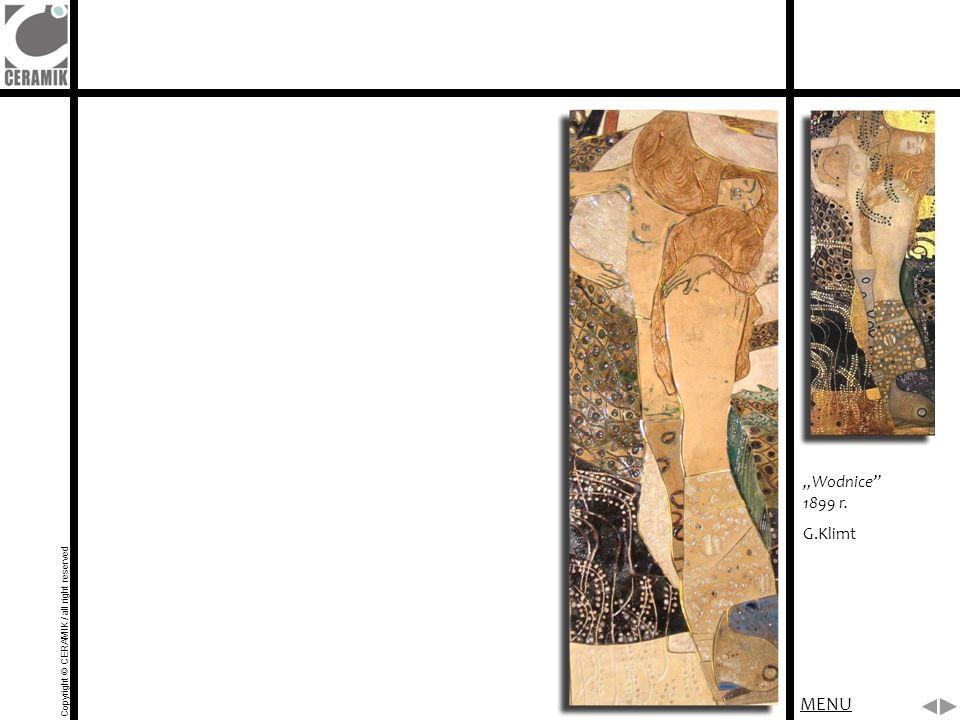 """MENU """"Wodnice 1899 r. G.Klimt"""