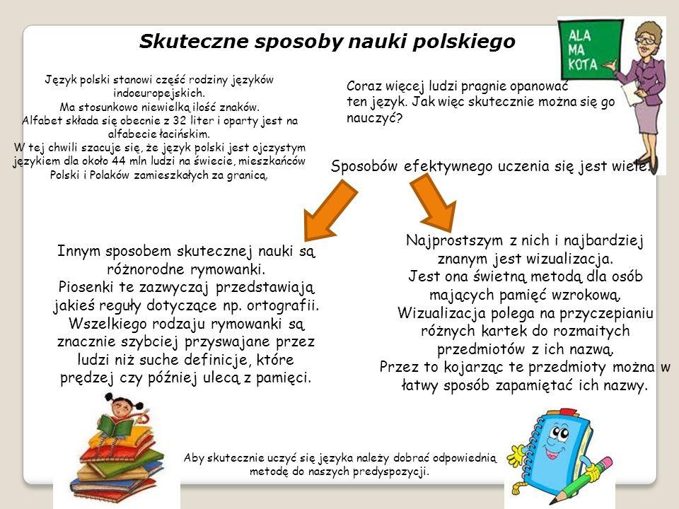 Skuteczne sposoby nauki polskiego