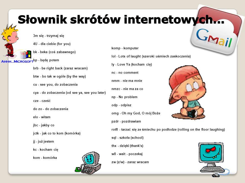 Słownik skrótów internetowych...
